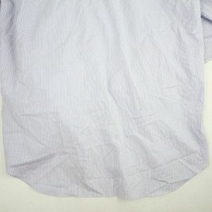 David Donahue Men's Dress Shirt Lilac Stripes 16.5